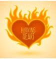 Symbol of burning heart with vector image