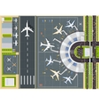 Airport view from above vector image