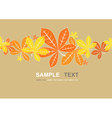 Colored autumn leaves background vector image vector image
