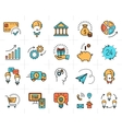 business line icon art Flat design Market vector image