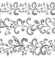 Flower background contours vector image