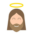 jesus flat icon easter and holiday christ sign vector image