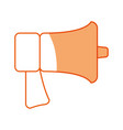 silhouette horn speaker symbol icon vector image