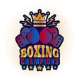 kings boxing golden crown vector image