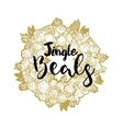 Xmas golden wreath and Jingle Beals vector image