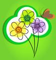 flowers art vector image
