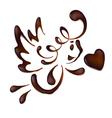 chocolate valentine vector image vector image