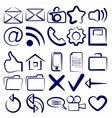 Computer Icon Collection symbols vector image