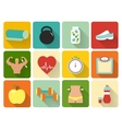 flat healthy life icons vector image