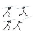 Javelin throwing vector image