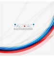 Red and blue color swirl concept vector image vector image