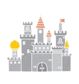 Cartoon castle isolated grey vector image