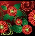 floral backgorund vector image