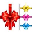 colorful ribbons and bows vector image