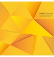 Abstract triangle yellow paper vector image