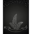 chalk flowers on blackboard vector image
