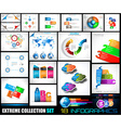 Collection of 18 Infographics for social media and vector image