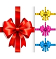 colorful ribbons and bows vector image