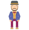Embarrassed hipster circus performer vector image