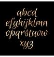 Golden glittering Alphabet vector image