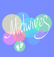 midwives day 5 may for vector image