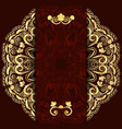 Rich dark background with gold floral mandala vector image