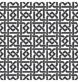 Seamless pattern of intersecting hexagonal braces vector image