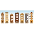seven buildings vector image