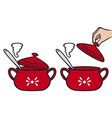 home kitchen pot vector image vector image
