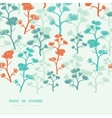 Abstract oriental trees frame horizontal seamless vector image