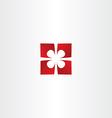 present box top view icon vector image