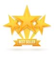 Best Seller Gold Star Background Five vector image