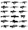 modern rifles and machine guns vector image