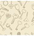 Keys set seamless retro vector image
