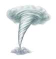 Cartoon style hand drawn tornado vector image