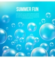 Abstract soap bubbles background vector image