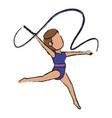 artistic gymnast design vector image