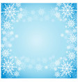 background blue with snowflakes vector image