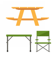 Camping and Picnic Table vector image
