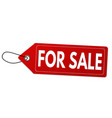 for sale label or price tag on white background vector image
