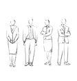 Group Of Hand Drawn Business People vector image