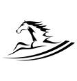 Horse tattoo symbol vector image