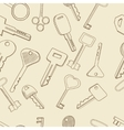 Keys set seamless retro vector image