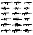 Modern rifles and machine guns vector image