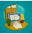 Office Design Concept Set vector image