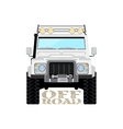 Safari offroad car truck 4x4 vector image