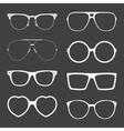set of white sunglasses frames vector image