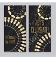 sparkling wine concept with gold metal elements vector image