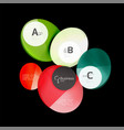 glossy glass circles speech bubble on black vector image vector image