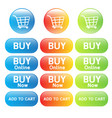 buy online shopping cart vector image